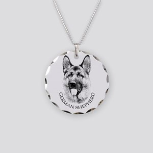 German Shepherd Necklace Circle Charm