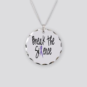 Speak Out, ribbon Necklace Circle Charm