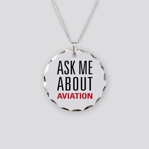 Aviation - Ask Me About Necklace Circle Charm