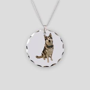 Alaskan Husky Necklace Circle Charm