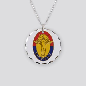 DUI - 1st Infantry Division Necklace Circle Charm
