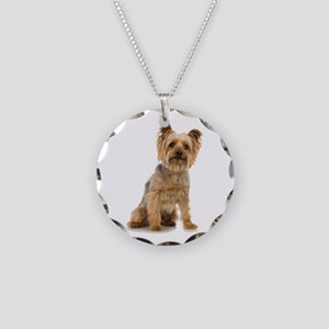 Yorkshire Terrier Necklace Circle Charm