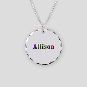 Allison Shiny Colors Necklace Circle Charm