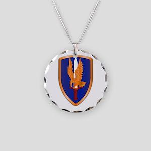 1st Aviation Brigade Necklace Circle Charm