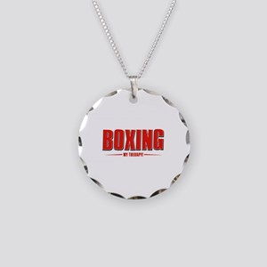 Boxing Designs Necklace Circle Charm