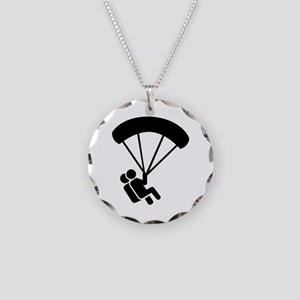 Skydiving tandem Necklace Circle Charm