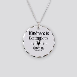CONTAGIOUS KINDNESS Necklace Circle Charm
