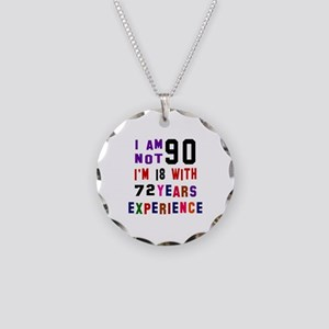 90 Birthday Designs Necklace Circle Charm
