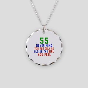 55 Never Mind Birthday Desig Necklace Circle Charm
