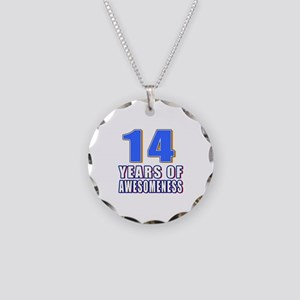 14 Years Of Awesomeness Necklace Circle Charm
