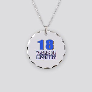 18 Years Of Awesomeness Necklace Circle Charm