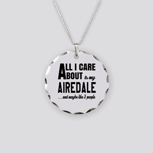 All I care about is my Aired Necklace Circle Charm