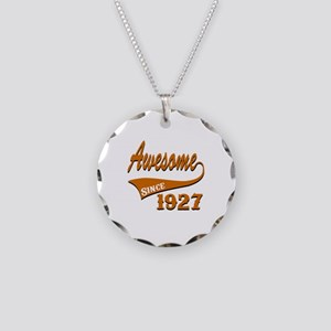 Awesome Since 1927 Birthday Necklace Circle Charm