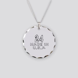 24 Made In U.S.A Necklace Circle Charm