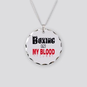 Boxing in my blood Necklace Circle Charm