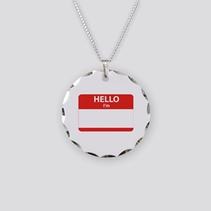 Hello I'm ... Necklace Circle Charm