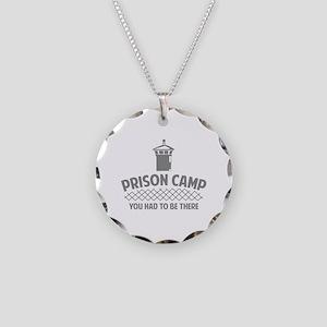 Prison Camp Necklace Circle Charm