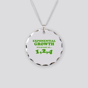 Exponential Growth Necklace Circle Charm