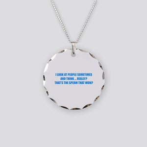 Sperm That Won Necklace Circle Charm