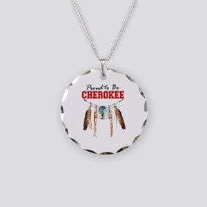 Proud to be Cherokee Necklace Circle Charm