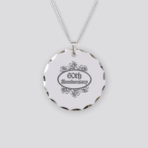 60th Wedding Aniversary (Engraved) Necklace Circle