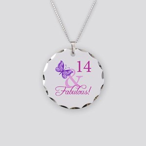 Fabulous 14th Birthday For Girls Necklace Circle C