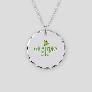 Grandpa Elf Necklace Circle Charm