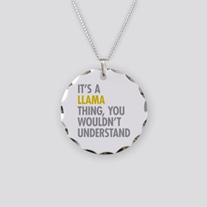 Its A Llama Thing Necklace Circle Charm