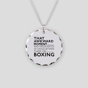 Boxing Awkward Moment Design Necklace Circle Charm