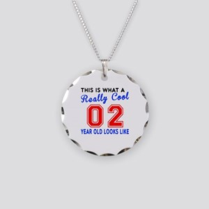 Really Cool 02 Birthday Desi Necklace Circle Charm