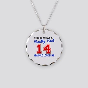 Really Cool 14 Birthday Desi Necklace Circle Charm