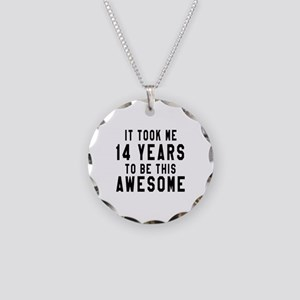 14 Years Birthday Designs Necklace Circle Charm