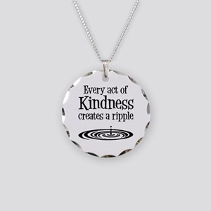 KINDNESS RIPPLE Necklace Circle Charm