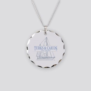 Turks and Caicos - Necklace Circle Charm