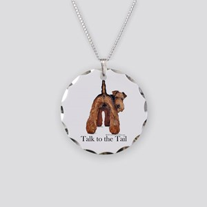 Airedale Terrier Talk Necklace Circle Charm