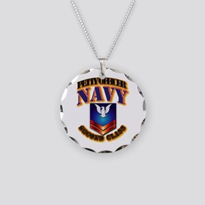 NAVY - PO2 Necklace Circle Charm
