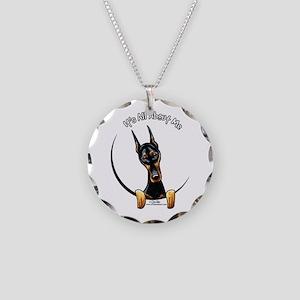 Doberman IAAM Necklace Circle Charm