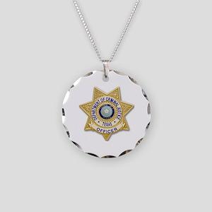 TDCJ Badge Necklace Circle Charm