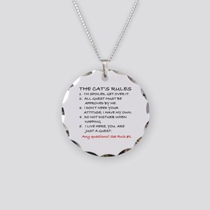 THE CAT'S RULES Necklace Circle Charm