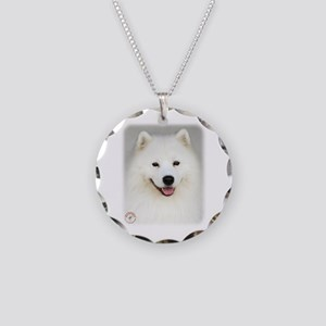 Samoyed 9Y566D-019 Necklace Circle Charm