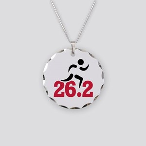 26.2 miles marathon runner Necklace Circle Charm