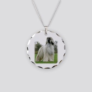 Afghan Hound 9Y247D-025 Necklace Circle Charm