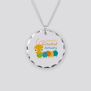 World's Greatest Actuary Necklace Circle Charm