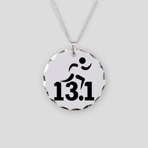 Half marathon runner Necklace Circle Charm