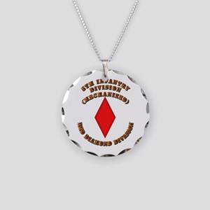 Army - Division - 5th Infantry Necklace Circle Cha