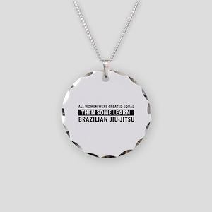 Brazilian Jiu-Jitsu design Necklace Circle Charm