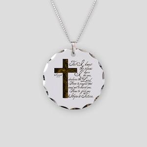 Plan of God Jeremiah 29:11 Necklace Circle Charm