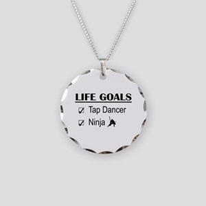 Tap Dancer Ninja Life Goals Necklace Circle Charm