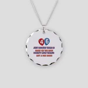 46 year old designs Necklace Circle Charm