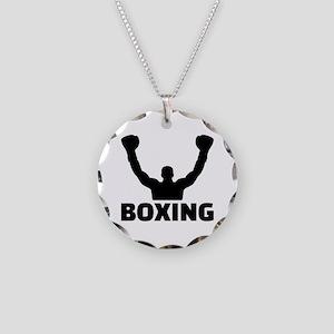 Boxing champion Necklace Circle Charm